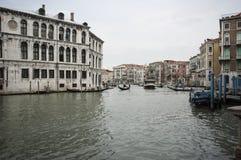 Het grote Kanaal van Venetië Stock Afbeeldingen