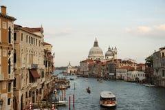 Het Grote Kanaal van Venetië stock foto's