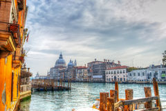 Het grote kanaal van Venetië in hdr stock afbeelding