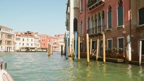 Het grote Kanaal in Venetië stock videobeelden