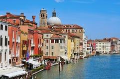 Het grote Kanaal in Venetië, Italië stock afbeelding