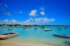 Het grote Landen van de Boot van de Baai Royalty-vrije Stock Foto