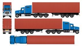 Het grote malplaatje van de vrachtwagencontainer vector illustratie