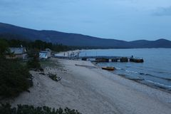 Het grote meer Baikal, Rusland Stock Afbeelding