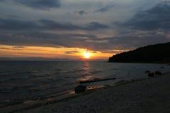 Het grote meer Baikal, Rusland Stock Foto's