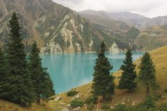 Het grote meer van Alma Ata stock foto's