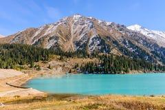 Het grote meer van Alma Ata Royalty-vrije Stock Foto's