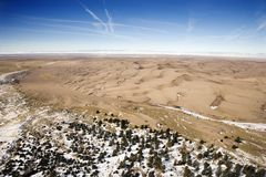 Het grote Nationale Park van de Duinen van het Zand, Colorado. Stock Fotografie