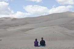 Het grote Nationale Park van Zandduinen Stock Foto