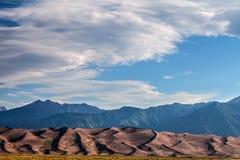 Het grote Nationale Park van Zandduinen in Colorado Royalty-vrije Stock Foto's
