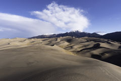 Het grote Nationale Park van Zandduinen in Zuidelijk Colorado Royalty-vrije Stock Foto