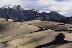 Het grote Nationale Park van Zandduinen in Zuidelijk Colorado Royalty-vrije Stock Foto's