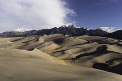 Het grote Nationale Park van Zandduinen in Zuidelijk Colorado Stock Afbeelding
