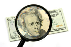 Het grote Onderzoek van het Geld Royalty-vrije Stock Afbeeldingen