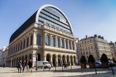 Het grote Operahuis (Opéra Nationaal DE Lyon) is een operabedrijf in Lyon, Frankrijk stock foto's