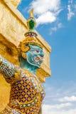 Het Grote Paleis Bangkok van Wat Phra Kaew van de Beschermer van de demon royalty-vrije stock foto