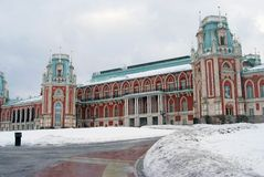 Het Grote Paleis in Tsaritsyno-park in Moskou Royalty-vrije Stock Afbeeldingen