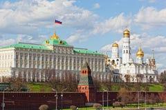 Het grote paleis van het Kremlin in Moskou royalty-vrije stock afbeelding