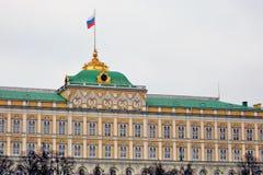 Het grote Paleis van het Kremlin Moskou het Kremlin De Plaats van de Erfenis van de Wereld van Unesco Royalty-vrije Stock Fotografie