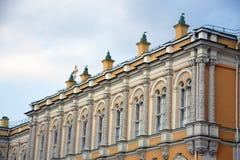 Het grote Paleis van het Kremlin van Moskou het Kremlin De Plaats van de Erfenis van de Wereld van Unesco stock foto