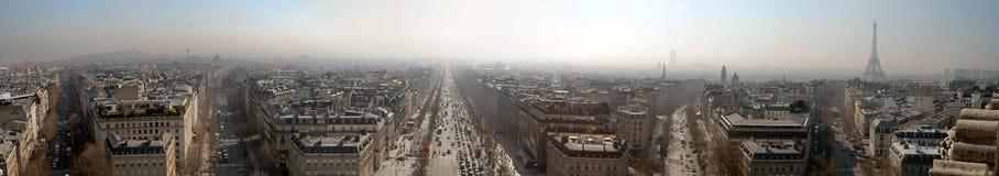 Het grote panorama van Parijs (12.8 parlementslid) Stock Afbeelding
