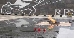 Het grote patriottische oorlogsgedenkteken in nizhny novgorod, Russische federatie stock afbeeldingen