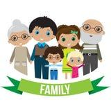 Het grote Portret van de Familie Royalty-vrije Stock Foto's