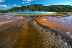 Het grote Prismatische Nationale Park van Yellowstone Stock Afbeeldingen
