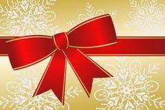 Het grote Rode Lint van Kerstmis Royalty-vrije Stock Afbeeldingen