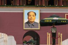 Het Grote Roerganger` s portret in Tiananmen-Vierkant stock fotografie