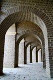 Het grote Roman amfitheater bouwt op de stichtingen van het originele theater in Xanten Duitsland voort royalty-vrije stock fotografie