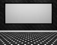 Het grote scherm in een zwarte ROM Royalty-vrije Stock Fotografie