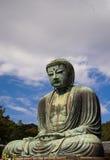 Het Grote Standbeeld Daibutsu van Boedha in Kamakura, Japan stock foto