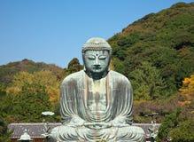 Het grote standbeeld van Boedha in Kamakura Stock Foto's