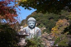 Het grote standbeeld van Boedha in Kamakura Royalty-vrije Stock Fotografie