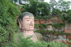 Het grote standbeeld van Boedha in Leshan Stock Foto