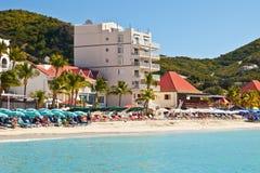 Het grote Strand van de Baai, St. Maarten Stock Afbeeldingen