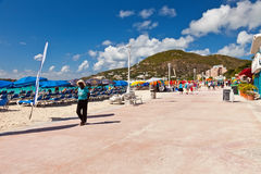 Het grote Strand van de Baai, St. Maarten Stock Foto's