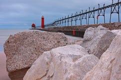 Het grote strand van Meren Stock Foto's