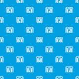 Het grote two-storey naadloze blauw van het huispatroon Stock Foto