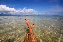 Het grote vakantiehoogtepunt van ontspant Stock Fotografie