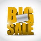Het grote verkoopteken en ontwerp van de bannerillustratie Stock Afbeeldingen