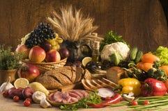 Het grote voedsel nog-leven Stock Foto's
