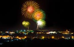 Het grote vuurwerkfestival Stock Foto