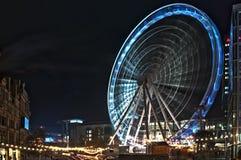 Het grote wiel van Manchester Stock Afbeeldingen