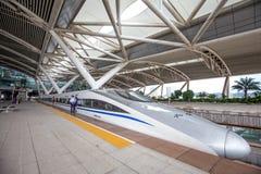 Het Guangzhou-zuidenstation is nieuw en modern station stock foto's