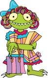 Het gulzige Monster van het Meisje Stock Afbeelding