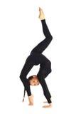 Het gymnastiek- stellen op wit Royalty-vrije Stock Foto's