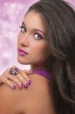Het haar, maakt omhoog en Manicure royalty-vrije stock afbeelding