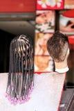 Het haar op de ledenpop stock afbeeldingen